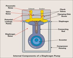 Internal Components of Diaphragm Pump