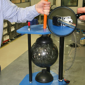 KNF Micro Diaphragm Gas Pump demonstration with bowling ball